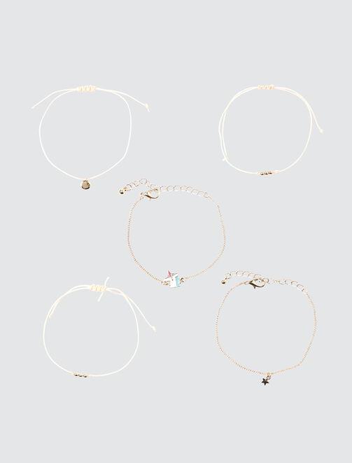 Set de 5 Bracelets Licorne femme