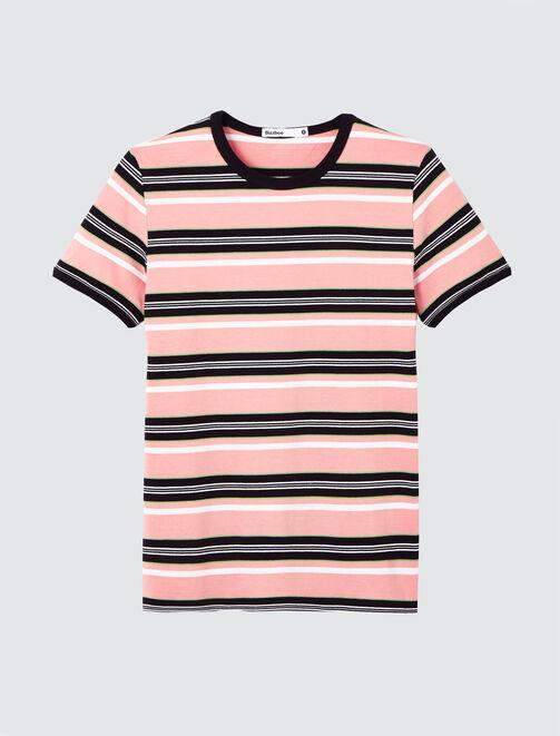 T-shirt à rayures en coton bio femme