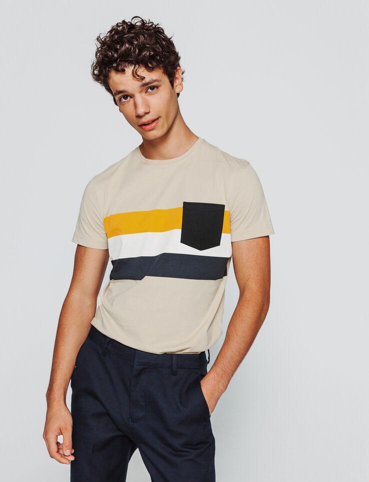 T-shirt rayures placées