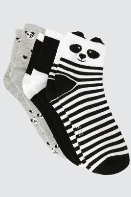 Lot*3 Socquettes Panda