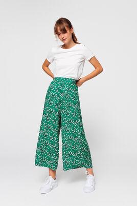 Pantalon pinces imprimé jambes larges