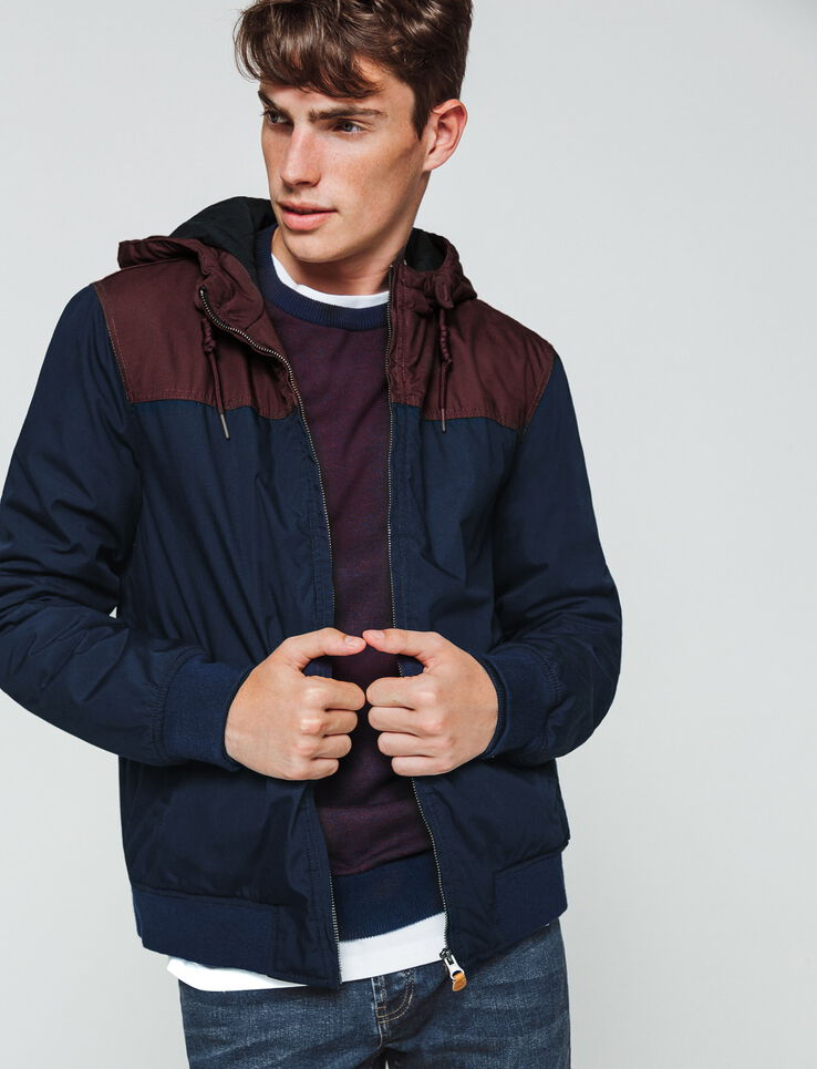 Blouson color block chaud