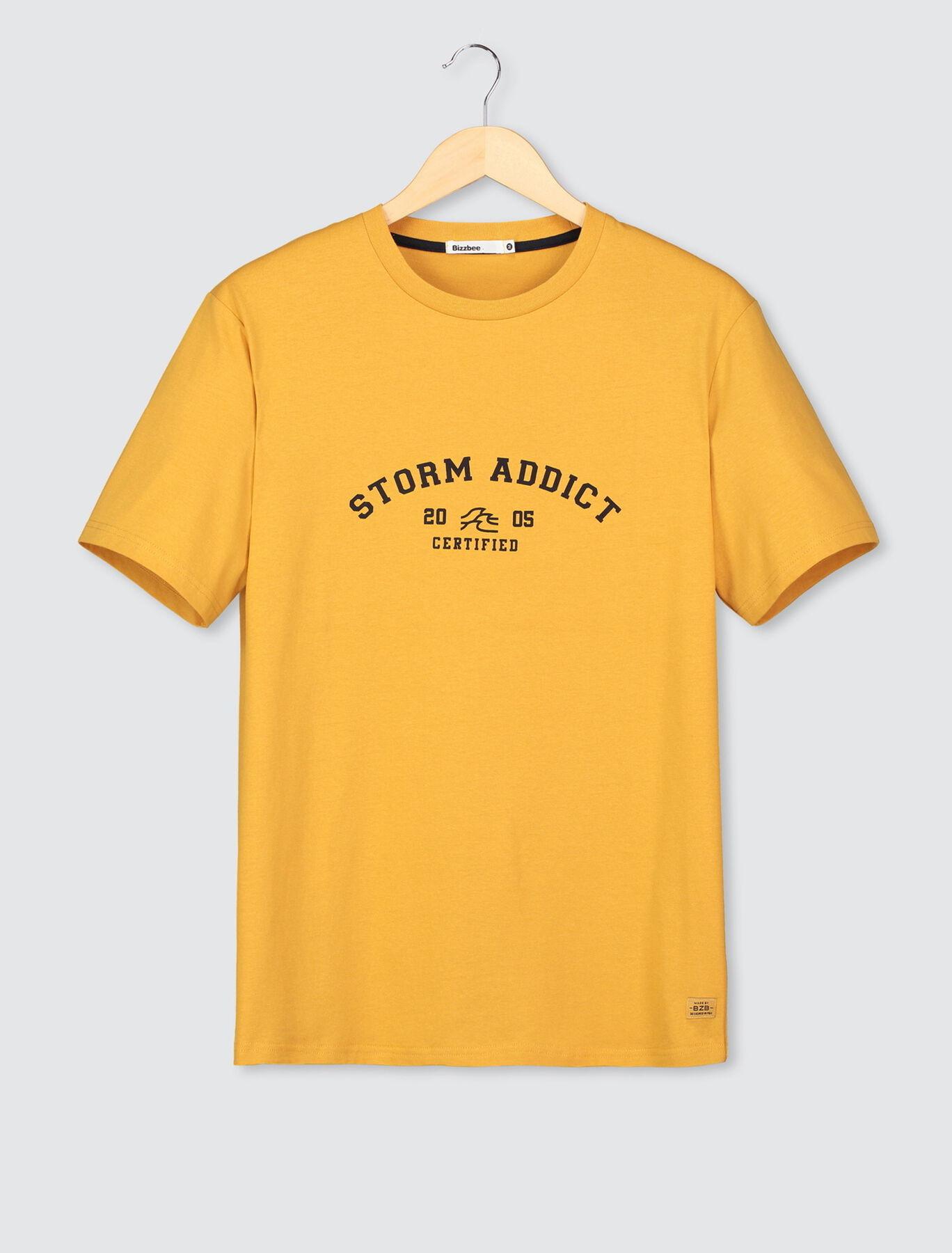 T-shirt imprimé marin en coton BIO