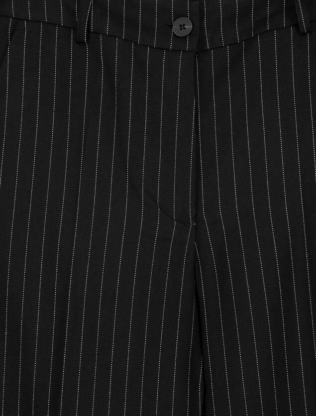 Pantalon Large Rayé Polyester Recyclé
