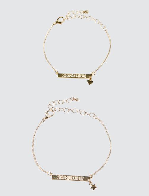 Set 2 Bracelets Sister De Cœur  femme