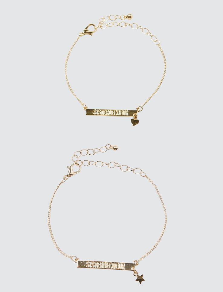 Set 2 Bracelets Sister De Cœur