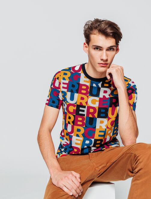 "T-shirt imprimé all over ""BURGER"" homme"