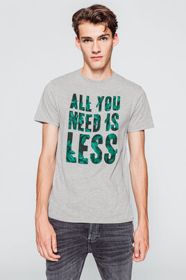 "T-shirt à message  ""ALL YOU NEED IS LESS"""