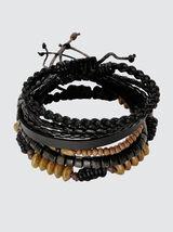 Set Bracelets Noir et Bois