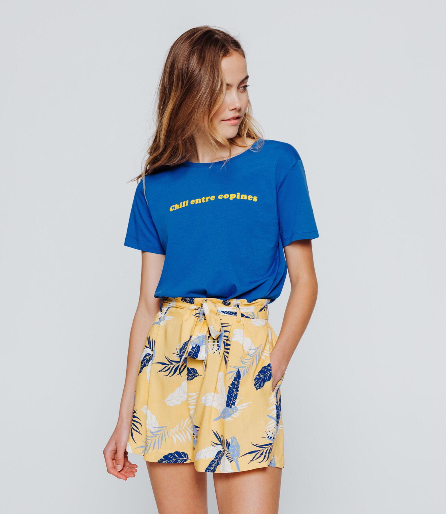 "T-shirt message ""Chill entre copines"""