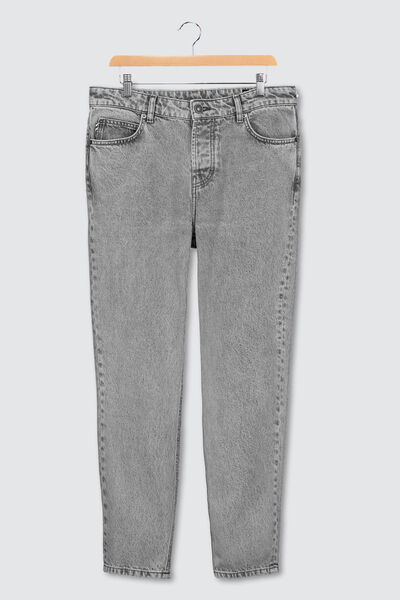 Jean relaxed acid wash gris