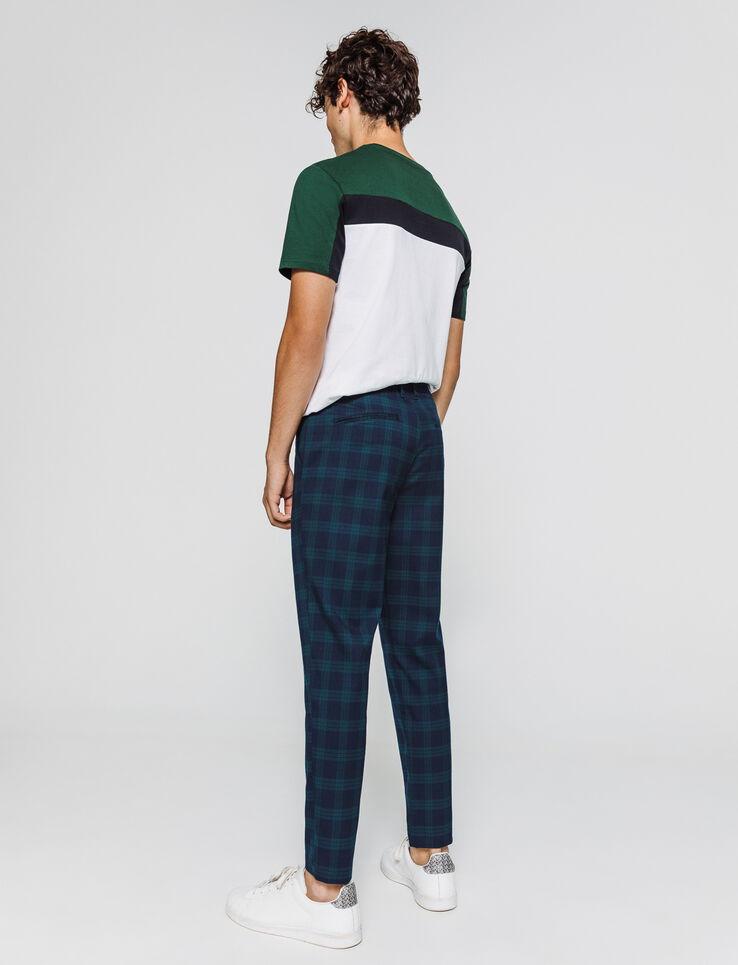 pantalon à carreaux ecossais