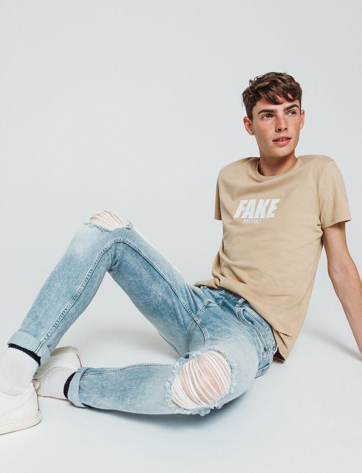 Jean skinny destroy cropped