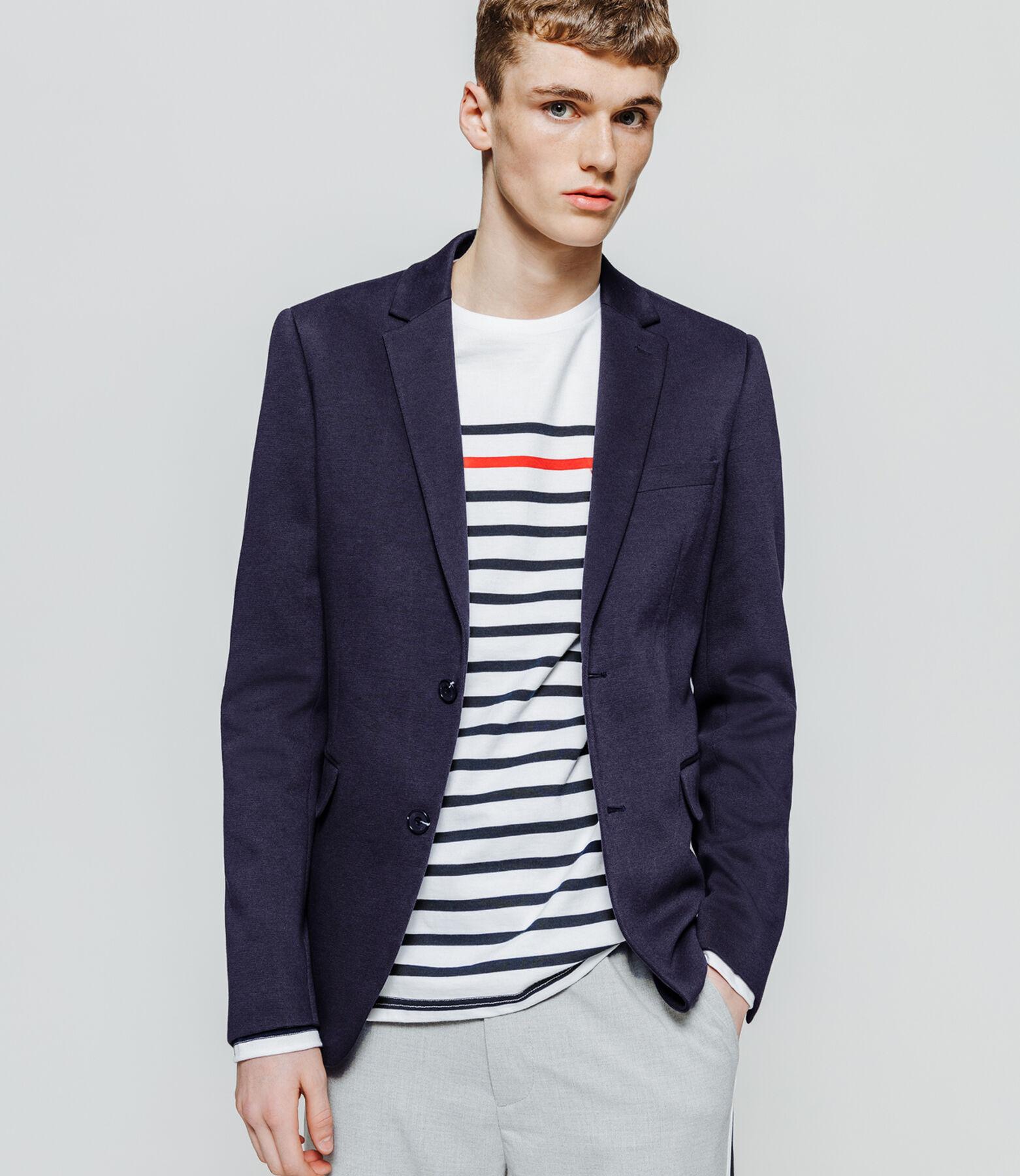 Veste de costume coupe droite coton stretch