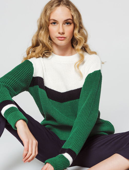 Pull colorblock  femme