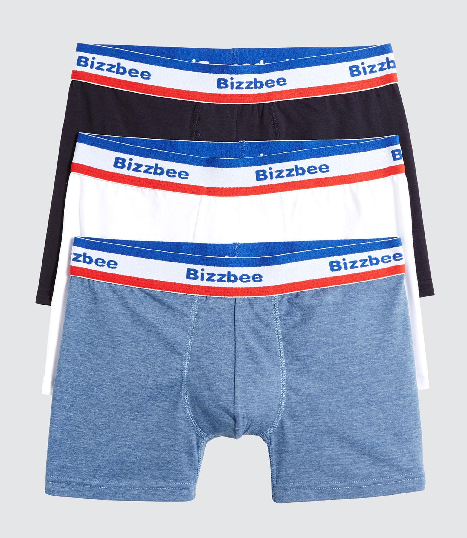 Lot de 3 Boxers Unis Ceinture Bleu Blanc Rouge