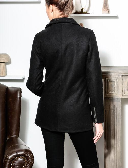 Manteau esprit perf mi long en laine femme