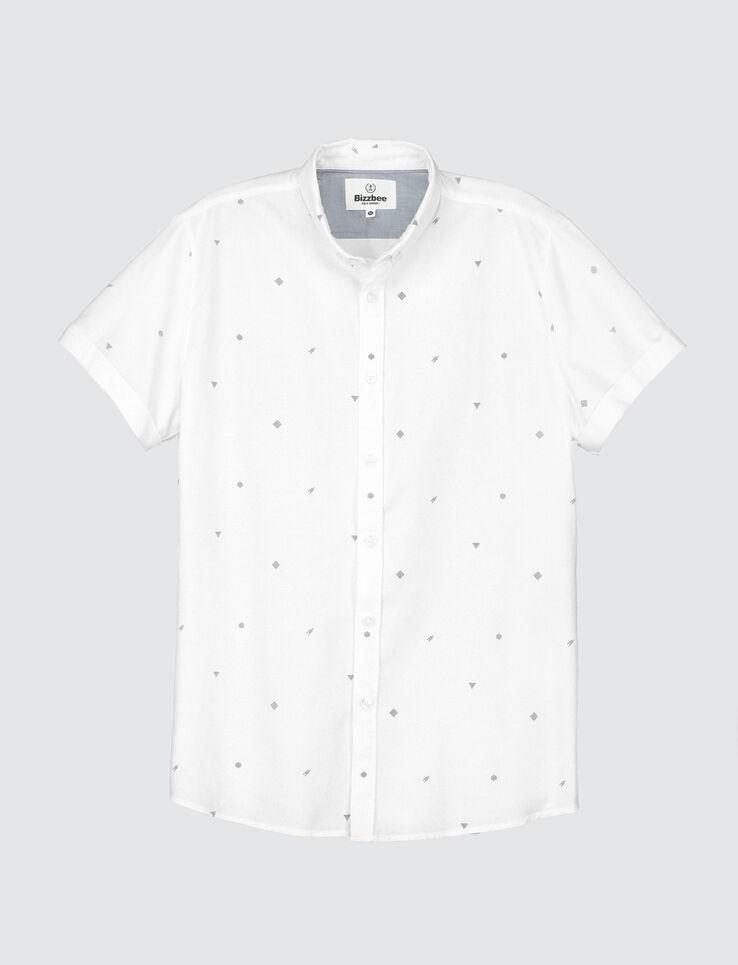chemise manche courte all over geometrique