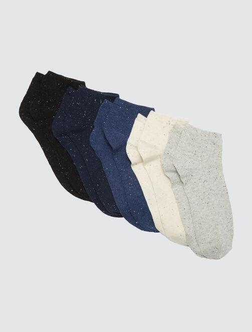 Set de 5 paires de socquettes. A hauteur chevilles homme