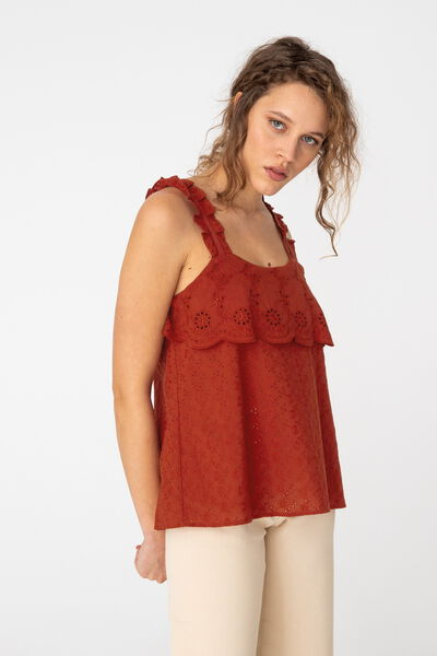 Top Broderie