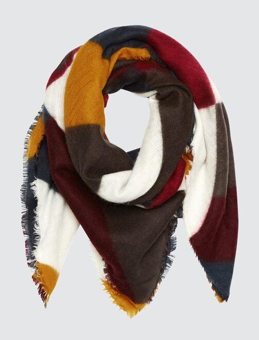 Foulard Doux Géométrique Multicolore femme