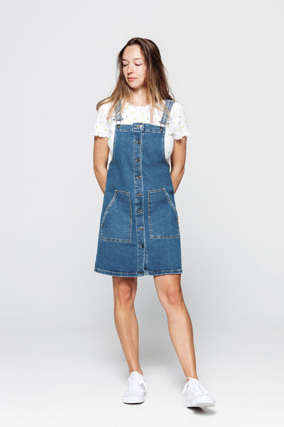 Robe salopette denim