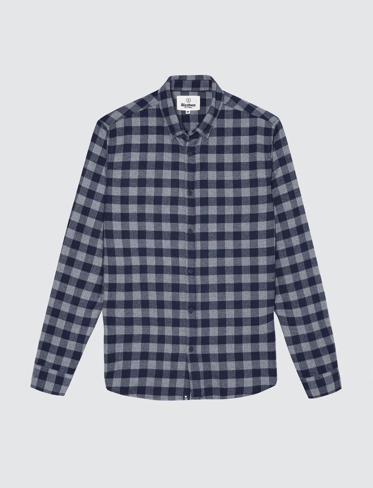 Chemise à carreaux vichy grattée flanelle.