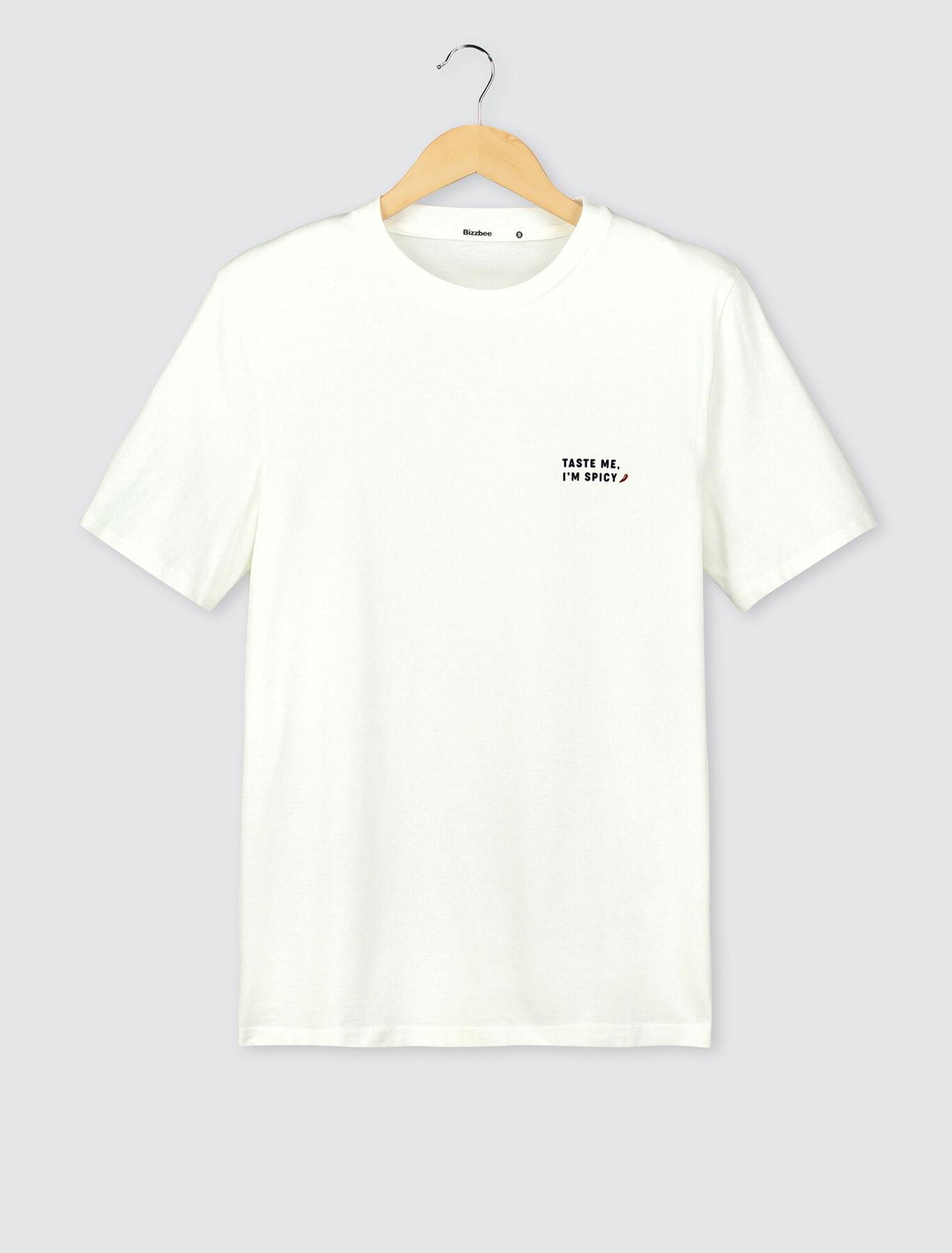 """T-shirt humour """"taste me"""" devant dos en coton BIO"""