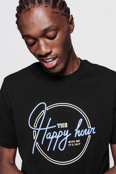 T-shirt avec imprimé style motel reliefé