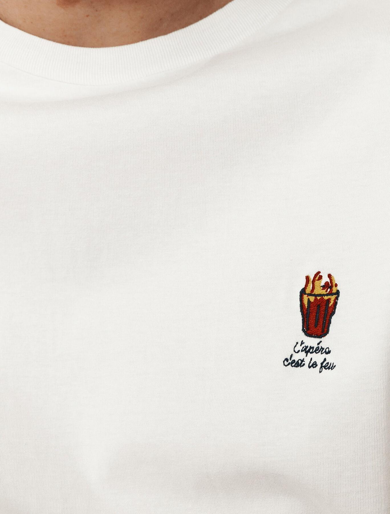 T-shirt humour brodé en coton BIO