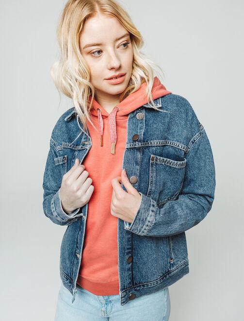 Veste en jean boxy femme