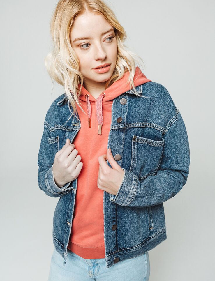 Veste denim boxy