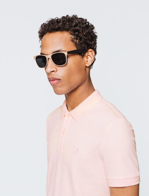 Polo basique rose homme