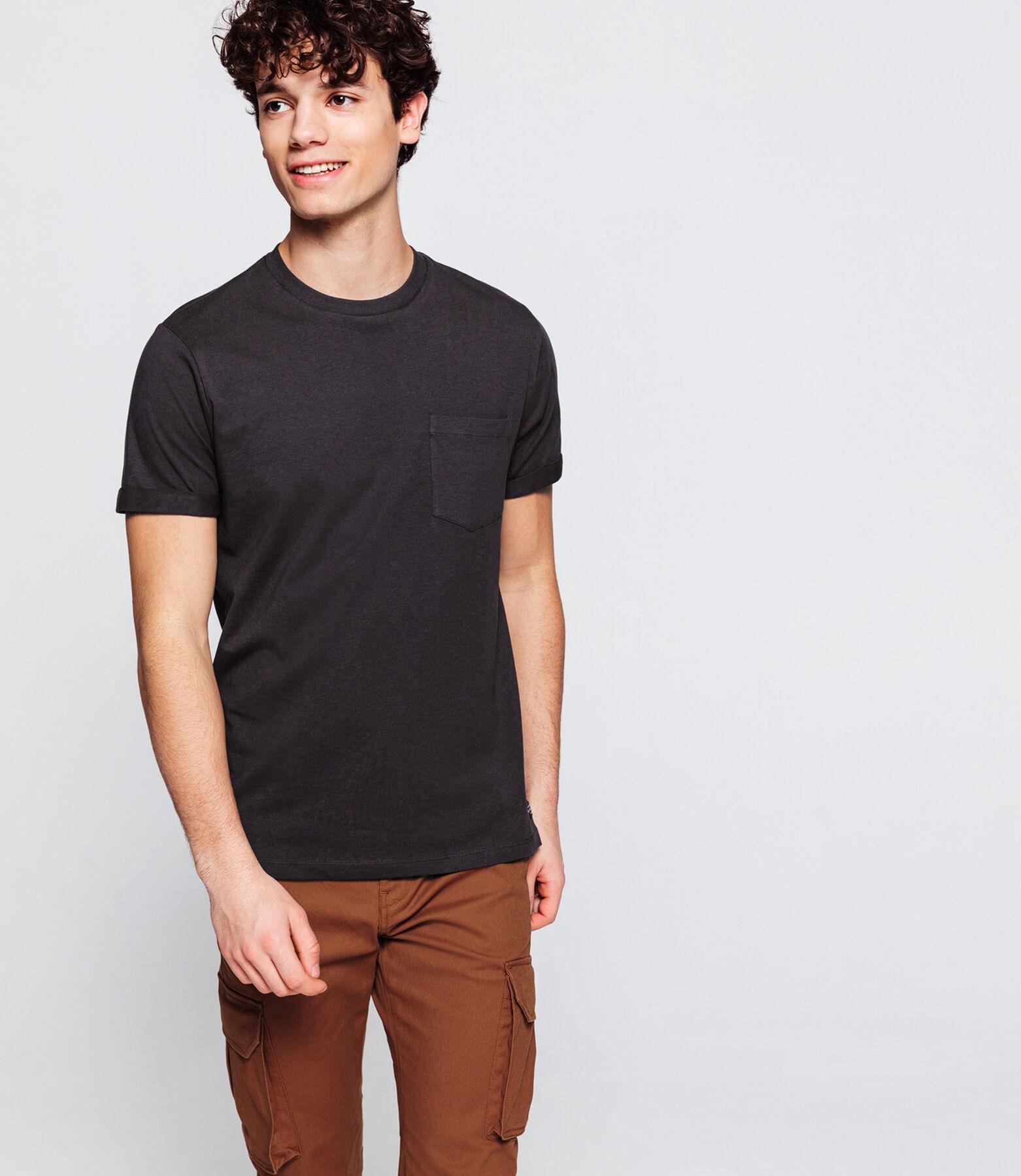 T-shirt uni avec poche coton issu de l'agriculture