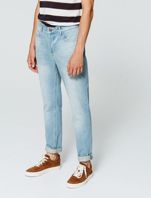Jean slim délavé coupe tapered homme