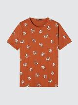T-shirt imprimé fleur en coton bio