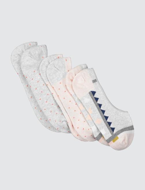 Chaussettes Invisibles Motif Lurex femme