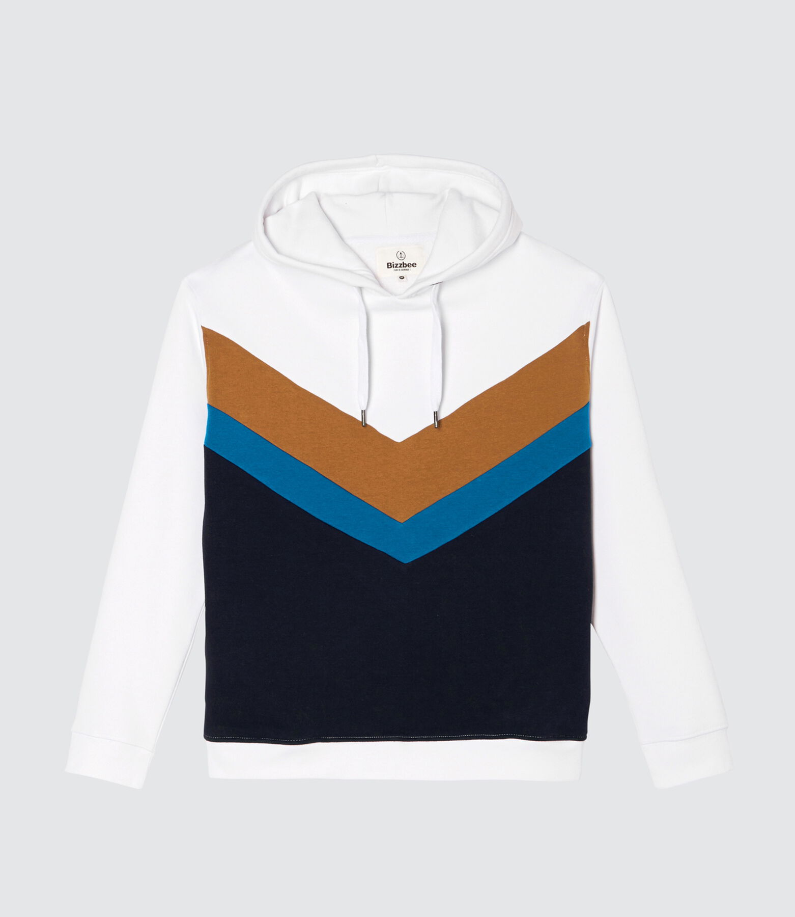 Sweat à capcuhe colorblock