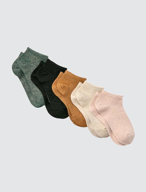 Lot de 5 Socquettes Bazzic Lurex femme