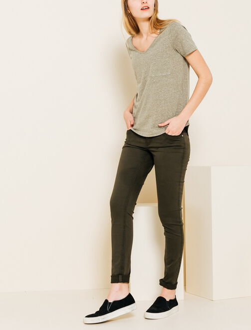 Pantalon skinny coloré femme