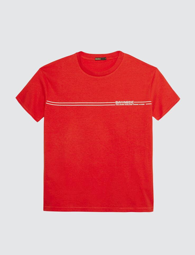 """T-shirt à message """" bavarde, toujours quelque chos"""