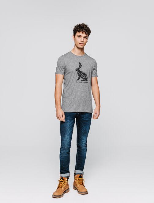 """T-shirt message """"J'en perds mon lapin"""" homme"""