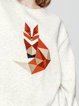 Sweat brodé origami