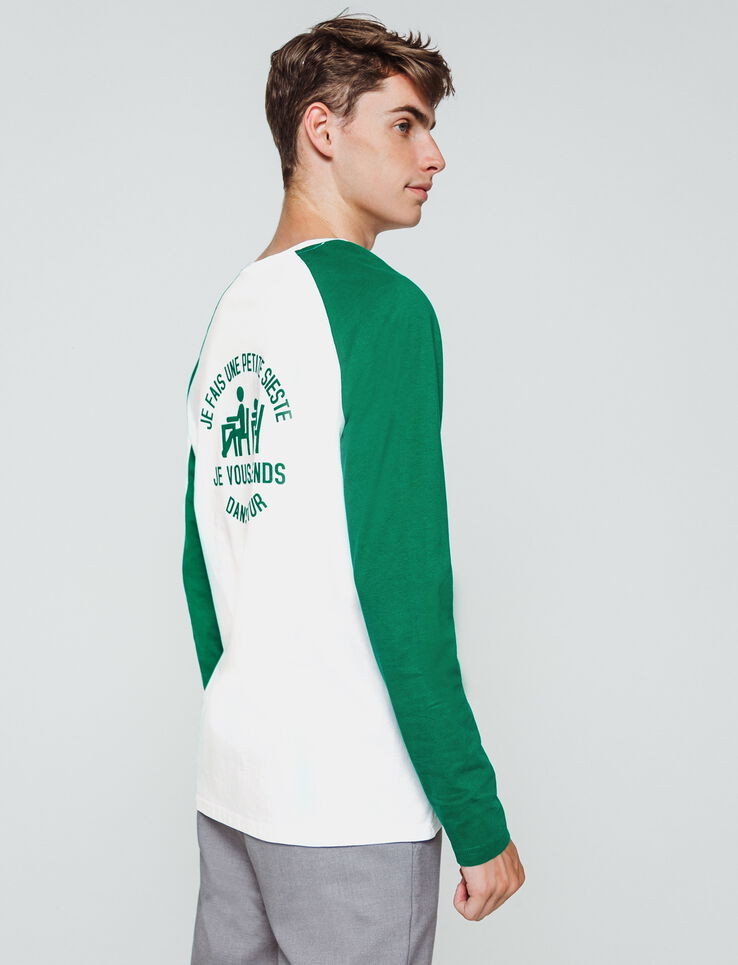 T-shirt raglan logo devant dos