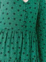 Robe Courte Babydoll Imprimée