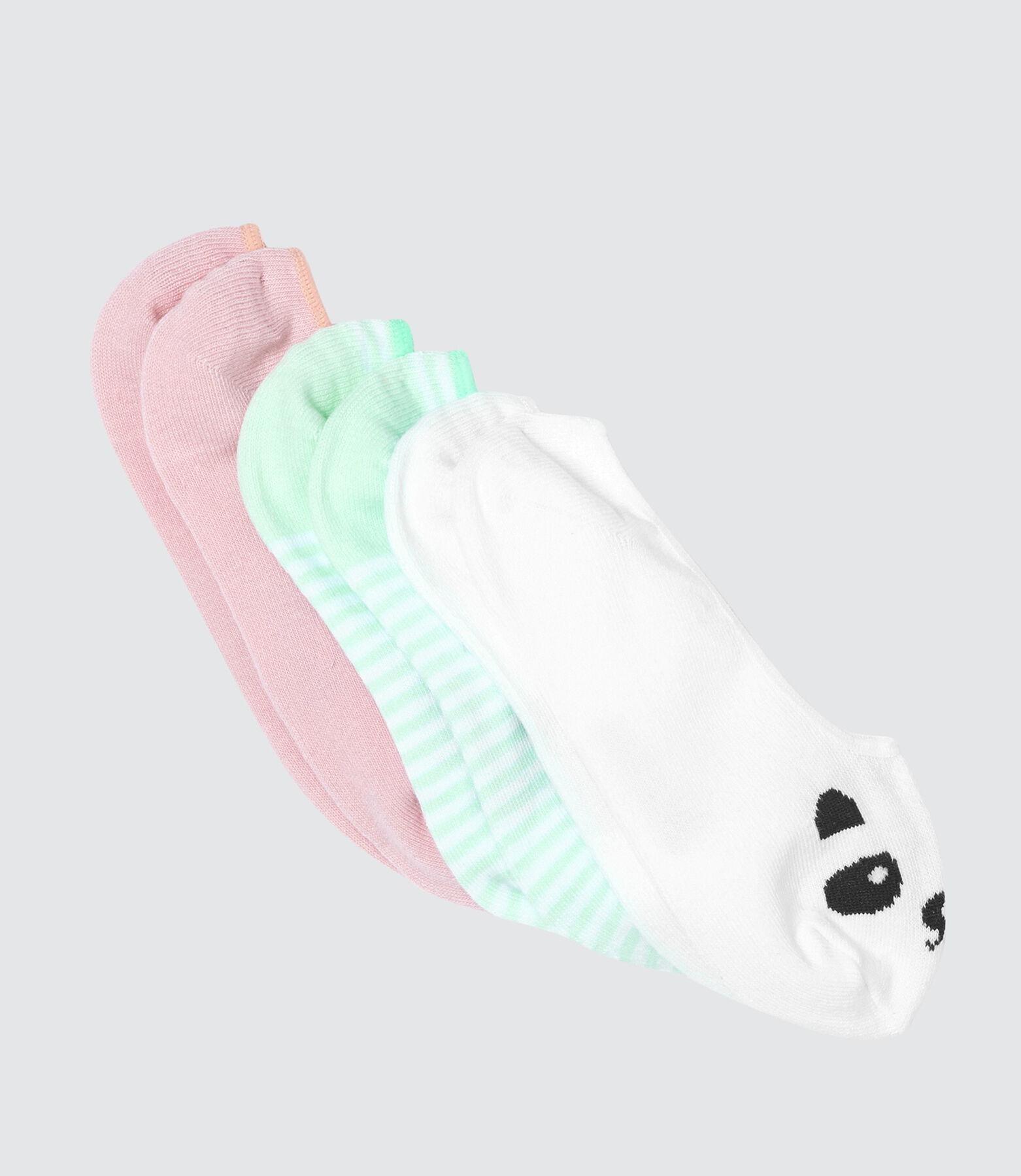 Lot de 3 Chaussettes Invisibles Panda
