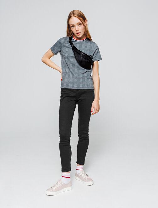 T-shirt Prince de Galles femme
