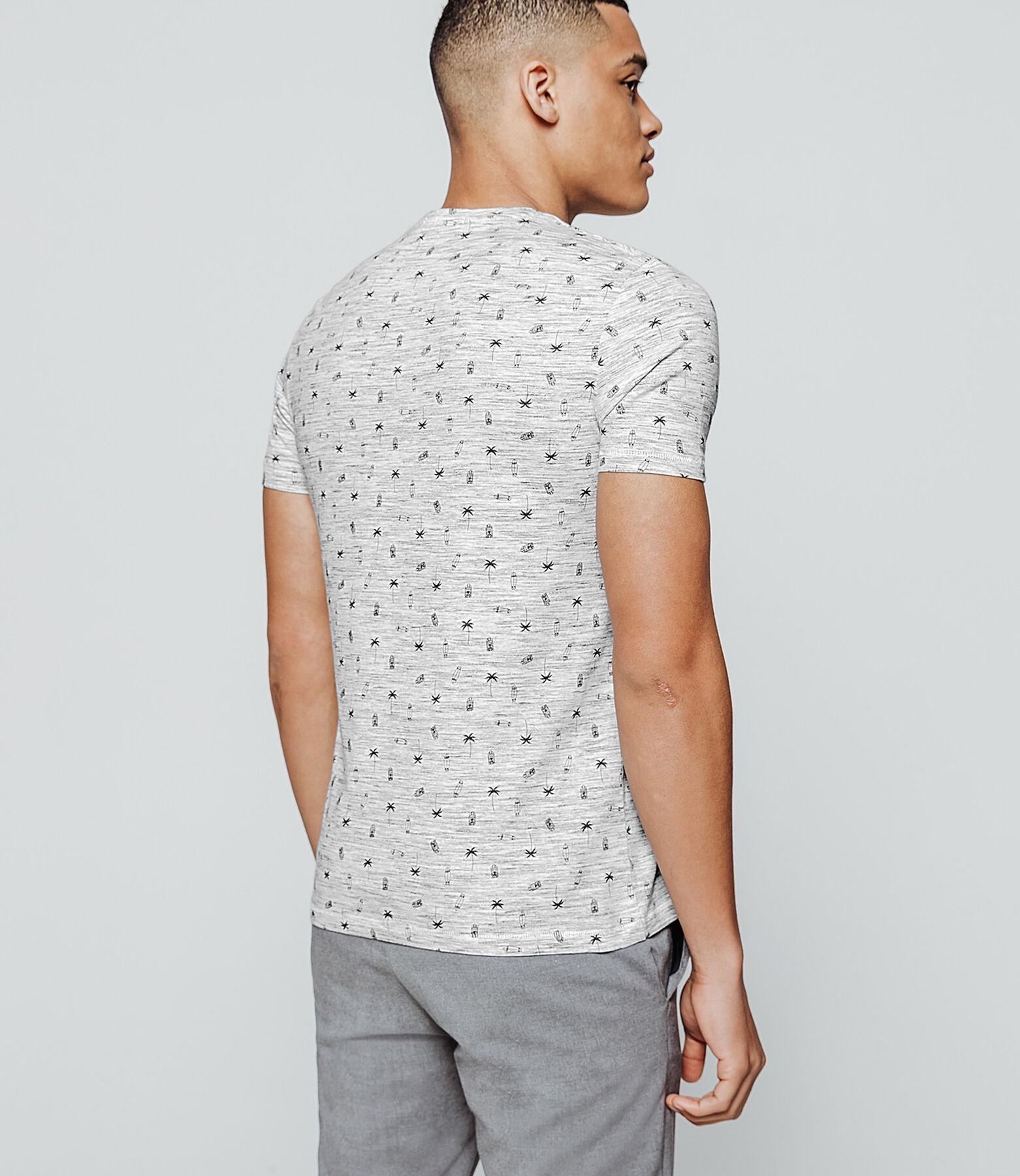 T-shirt matière fantaisie imprimé