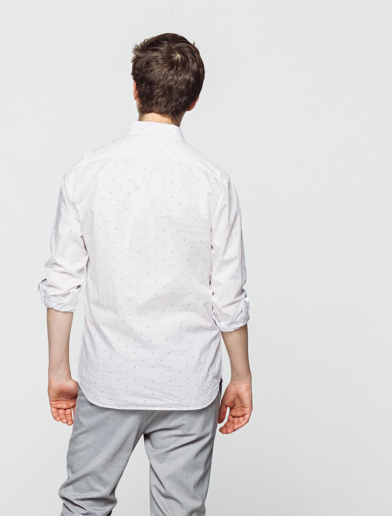 Chemise légère blanche imprimée
