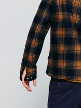 Veste en lainage à carreaux